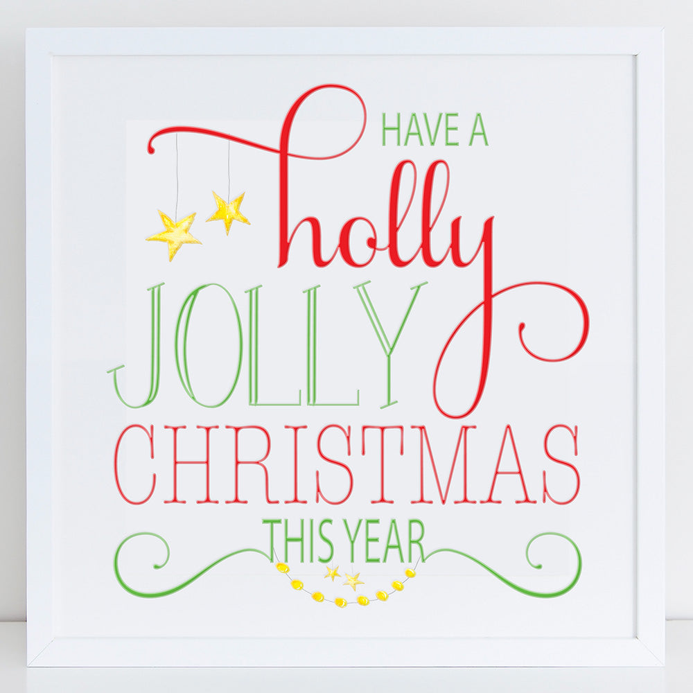 shop ninety6nine have a holly jolly christmas this year graphic art print print - Have A Holly Jolly Christmas