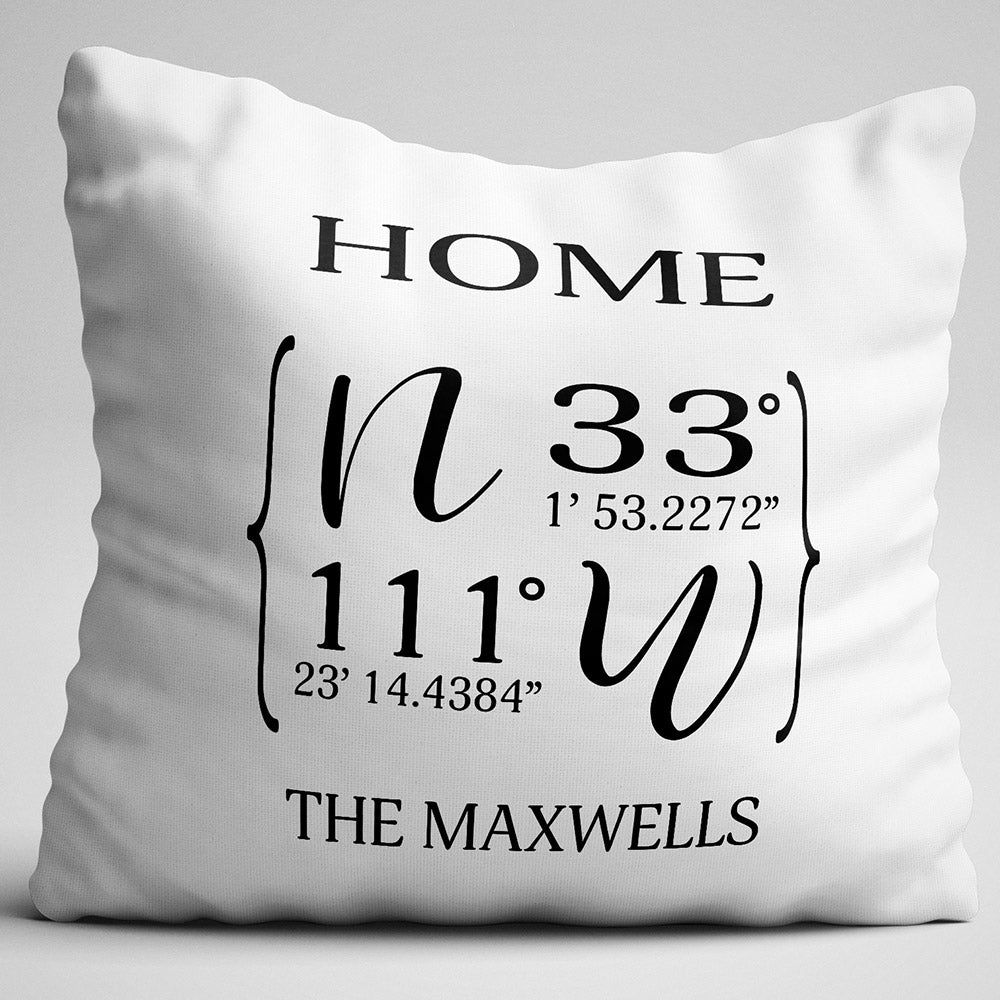 Shop Ninety6nine Home City State Coordinates Name Personalized Throw Pillow Pillows