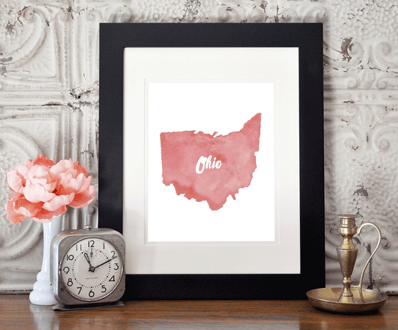 Shop ninety6nine personalized watercolor arts print perfect for wedding gifts, anniversary gifts, housewarming gifts