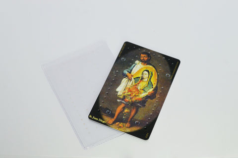 St. Juan Diego Lady of Guadalupe Rosary Card