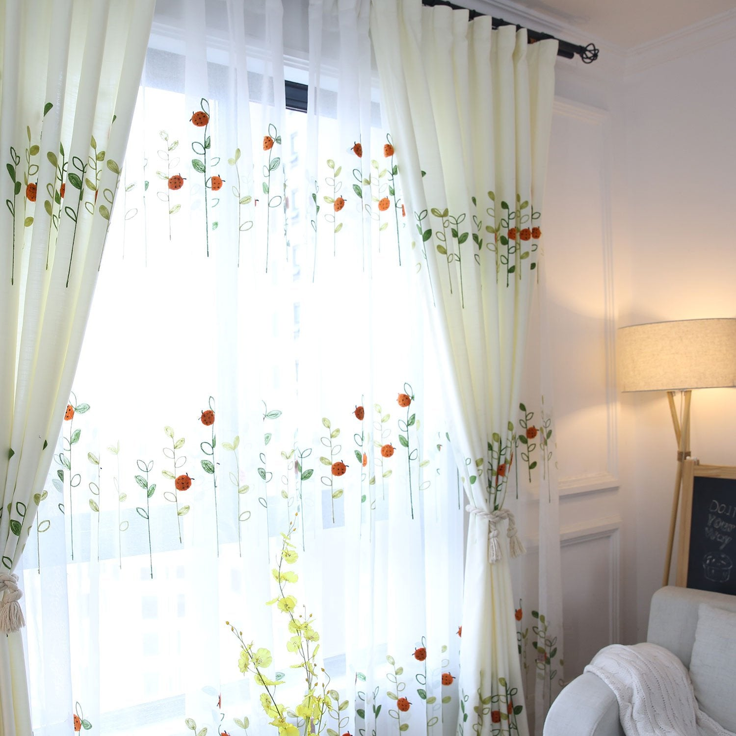 Cécile-Ladybird-Sheer-Curtains-Sydney