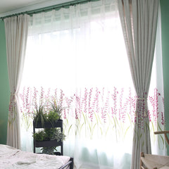 Designer Lavender Fields Sheer Curtains - Decor Concepts - Custom made curtains