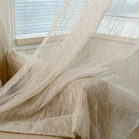 Barley Sheer Cream Curtains - Decor Concepts - Custom made curtains