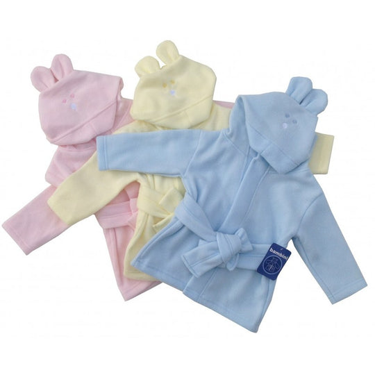 Fleece Robe Pastel with Rabbit Ears Hoodie - BIBI & SAM