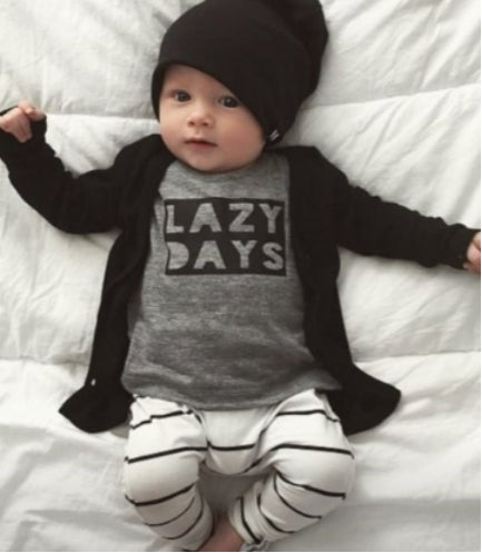 Beautiful Set of Babies lazy days clothes