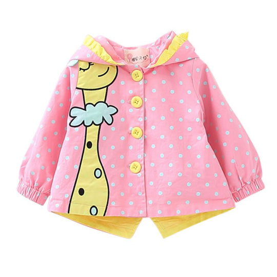 Girls  Long Sleeve Coat Giraffe - BIBI & SAM