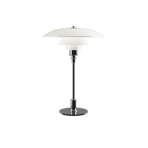 Poul Henningsen 3½-2½ table lamp with opal glass shades produced by Louis Poulsen