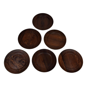 A set of six Danish mid century cover plates by Ehrenreich, wenge