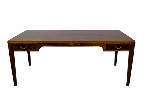 A coffee table by Frits Henningsen, four drawers, brass handles