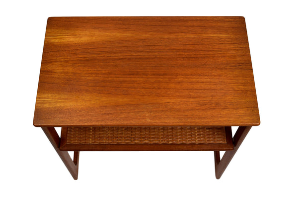 Mid century nesting tables by Johannes Andersen & Illum Wikkelsø Model 219, teak