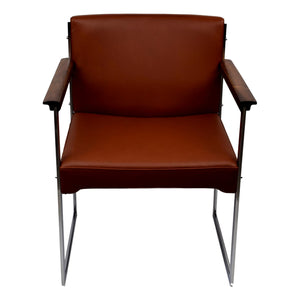 Mid-century armchair by Illum Wikkelsø, aniline leather, P. Schultz & Co.