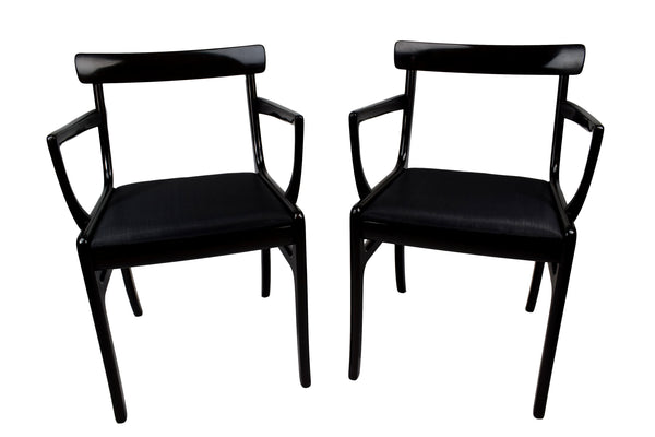 Pair of Danish mid century armchairs, Ole Wanscher, Rungstedlund, horse hair