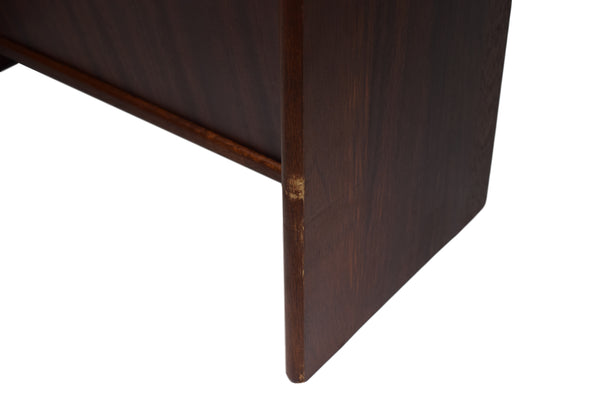 Danish midcentury rosewood magazine rack produced by FBJ Møbler
