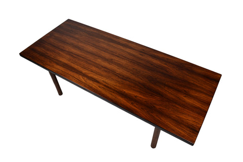 Danish Midcentury Rosewood Coffee Table, Hans J. Wegner, Model AT-12, Produced By Andreas Tuck