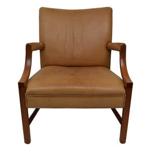 Ole Wanscher early Danish mid-century armchair by  produced by cabinetmaker A.J. Iversen