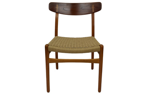 Hans J. Wegner, CH23 dining chair, beech and teak frame, Carl Hansen & Son