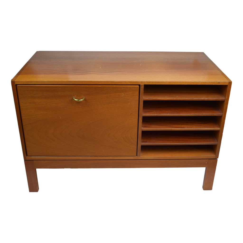 Danish midcentury solid mahogany archive cabinet by Christian Hvidt, model 409