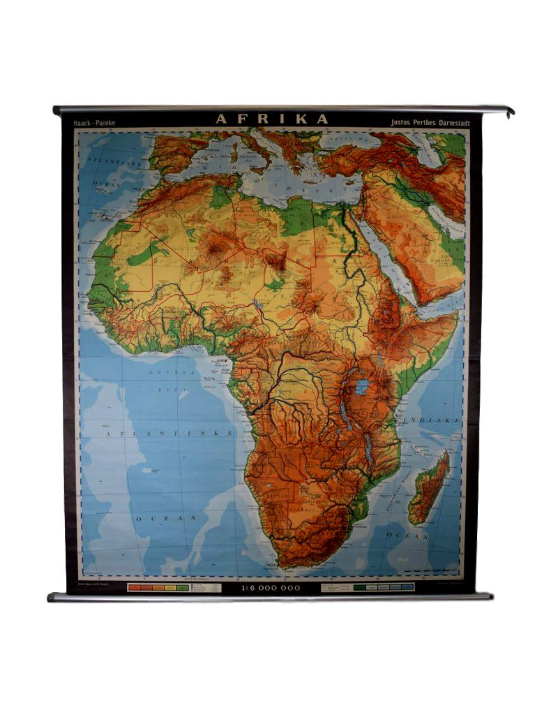 Large Danish mid century maps Africa educational map Webbs Mid
