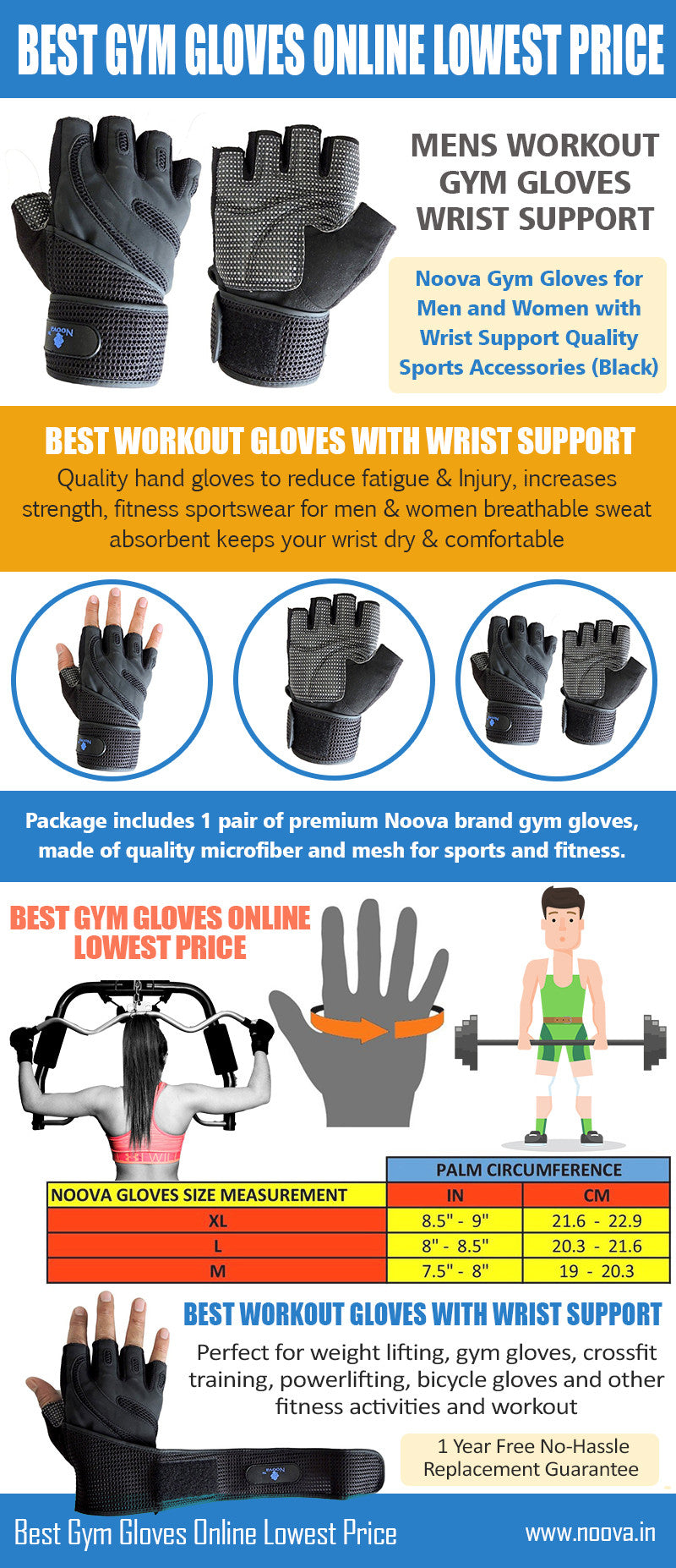 noova gym gloves