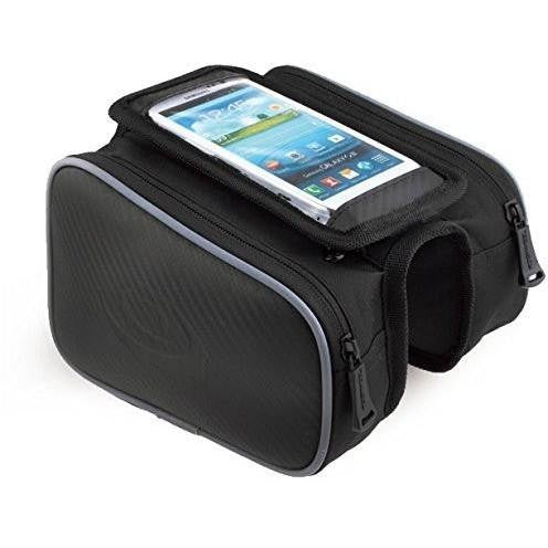 "MobilX Cycling Bike Frame Bag for M 4.8"" / L 5.5"" or less Inch Smartphones"