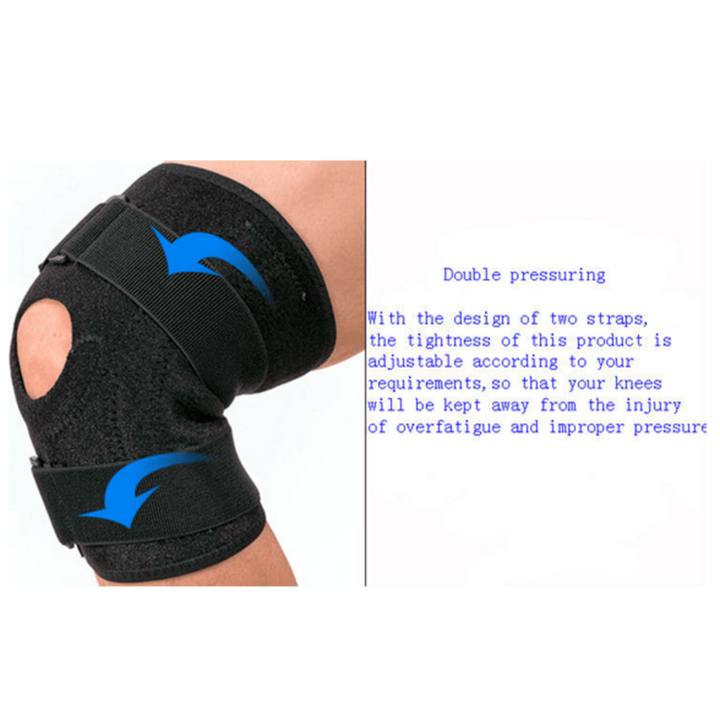 Noova Knee Brace for Meniscus Tear - Best Braces for Patella Support for Men & Women Open Patellar Tendon Strap for Stabilizing & Reducing Pain Due to Arthritis Running Gym Workout Crossfit or Sports, Black (1 Piece)