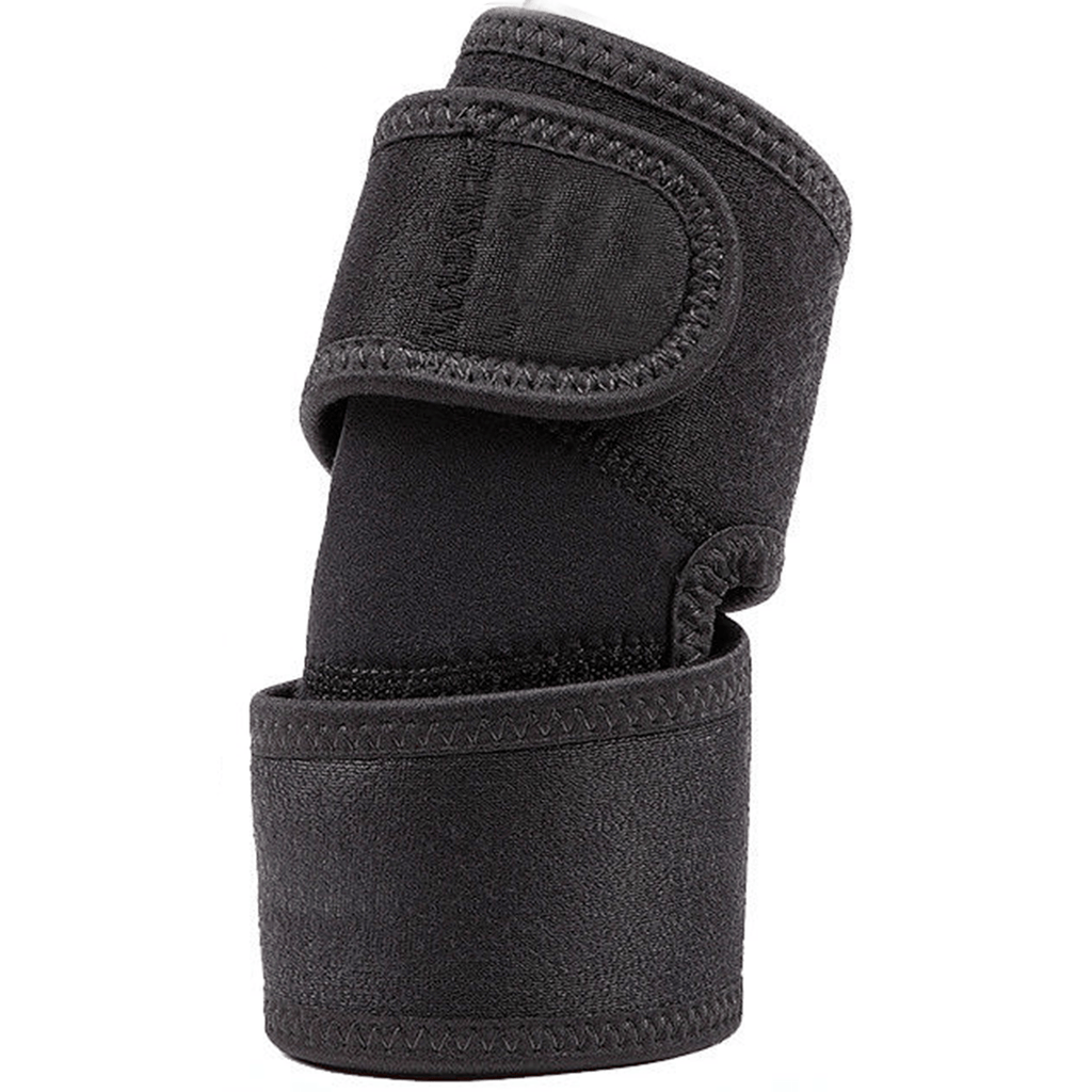 Noova Elbow Support Brace Guard Band for Sports, Tennis and Gym (Black)