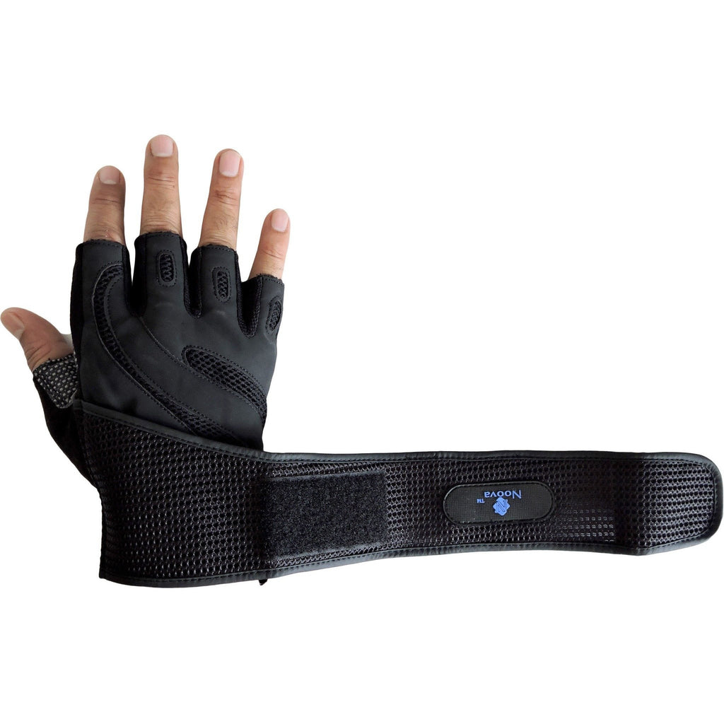 Noova Gym Gloves for Men and Women with Wrist Support (Black)