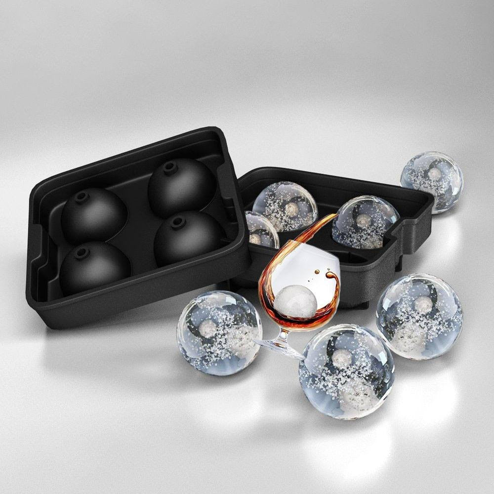 Ice Ball Maker Tray for Juice Whiskey Cocktail Drinks