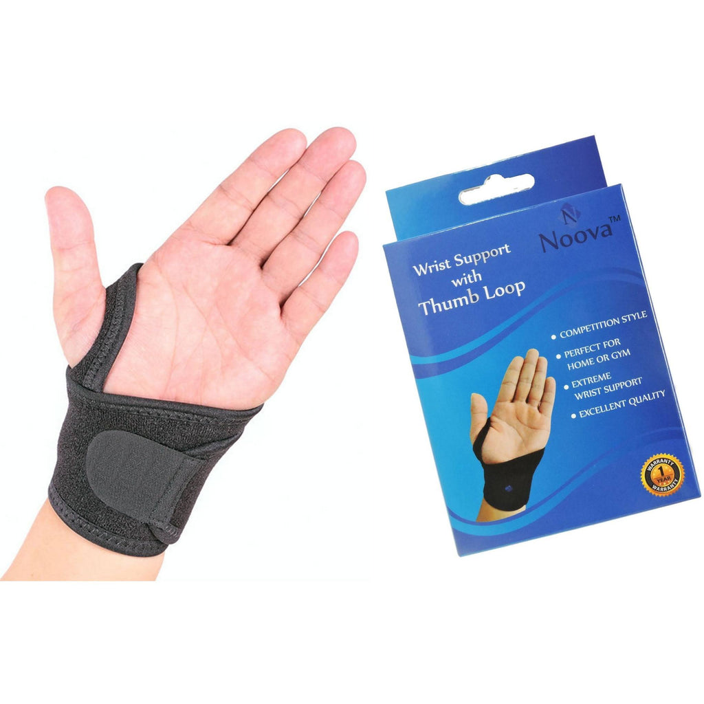 Noova Wrist Wrap Support, One Size Fits All (1 Piece, Black)