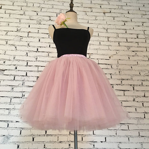 7 Layers Midi Tulle Skirt