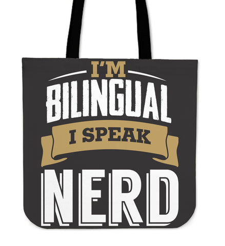 Bilingual Tote Black and Gold