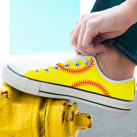 Baseball Sneakers Yellow