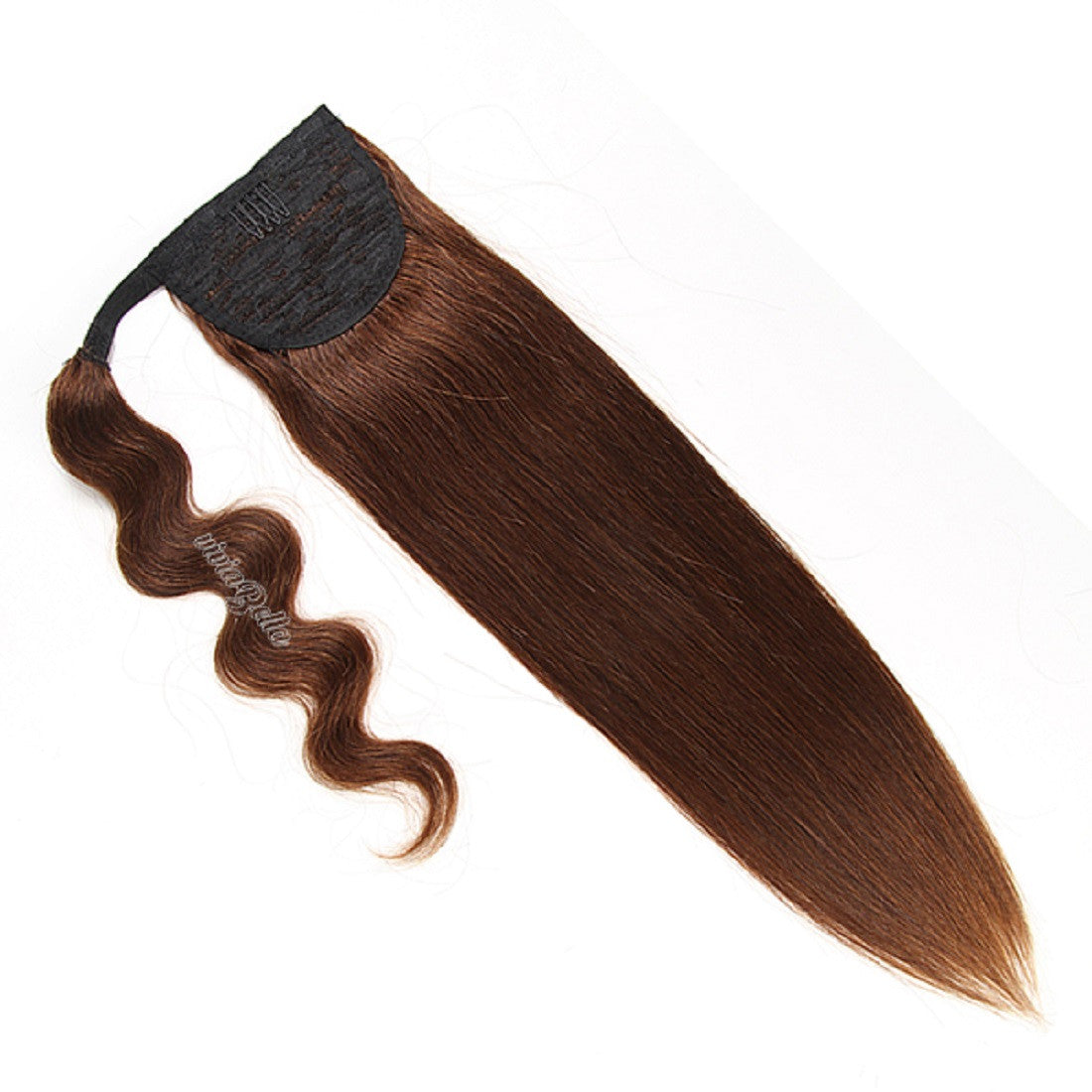 Arbun Brown Silky Straight Ponytail Virgin Human Hair Extension 6