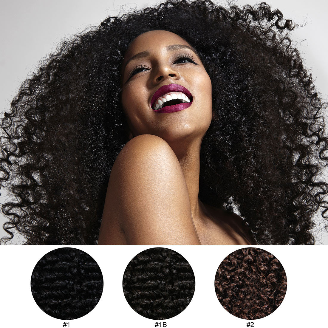 Jerry Curly Clip In Virgin Human Hair Extensions 3b3c Viviabella