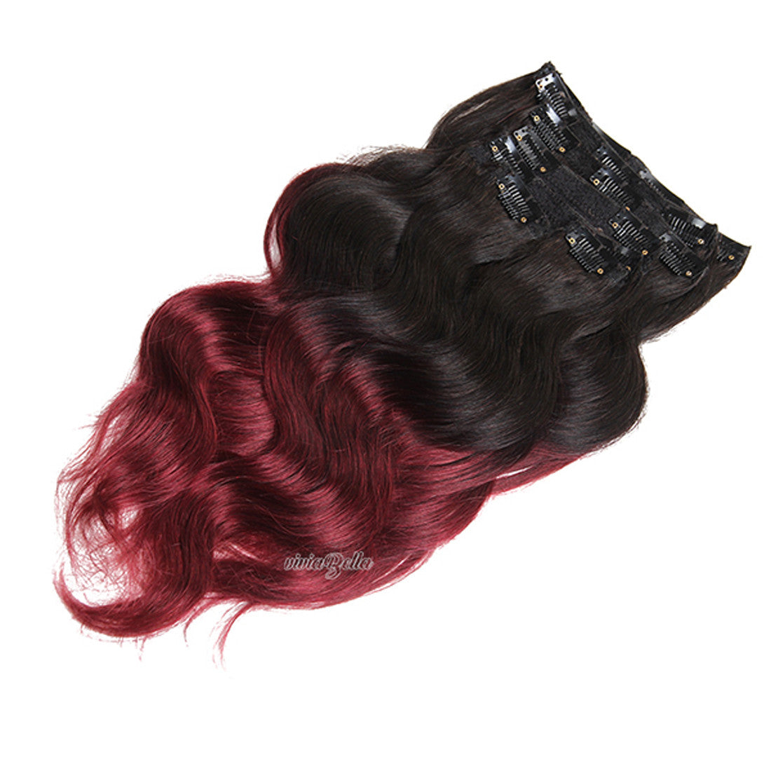 Ombre dark brown with copper red clip in body wave virgin human ombre dark brown with copper red clip in body wave virgin human hair extension pmusecretfo Choice Image