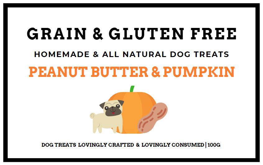 Peanut Butter and Pumpkin Grain & Gluten-Free Dog Biscuits 100G