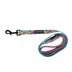 Porkypaws Dual Design Dog Leash in 'Dinosaur'