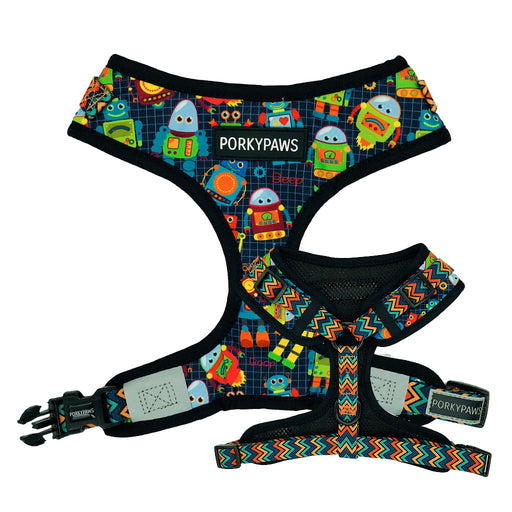 Porkypaws Dual Design Dog Leash in 'Little Robots'
