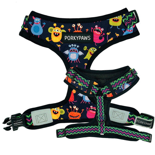 Adjustable Dog Harness in 'Purple People Eater'