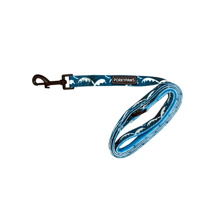 Porkypaws Dual Design Dog Leash in 'Tribal Waves'