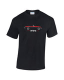 MGB sportscar t shirt in a range of print colours. Works Sebring MG print mens t-shirt at low prices. Classic british sportscar gift.