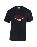 Renault 5 GT Turbo print t shirt, the perfect gift for the classic hot hatch enthusiast. 3 body colours on quality t shirts with prices you'll love.