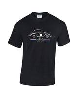 Retro printed t-shirt featuring the VW Bettle