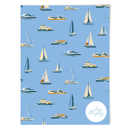 'Boats' Wrapping Paper