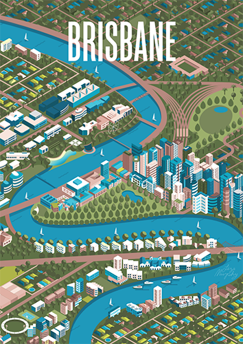 Brisbane Isometric