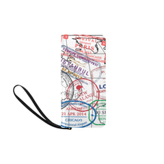 Passport Stamps Clutch Purse