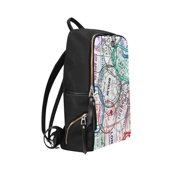 Passport Stamp Backpack