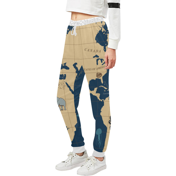 Women's Nautical Map Casual Sweatpants