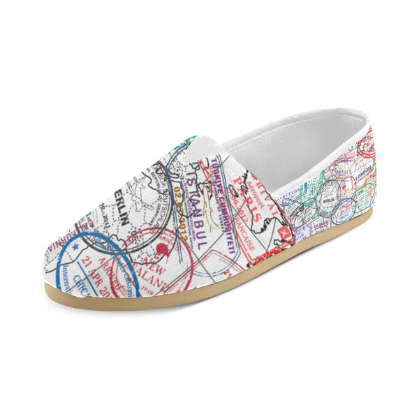 Passport Stamped Casual Shoes