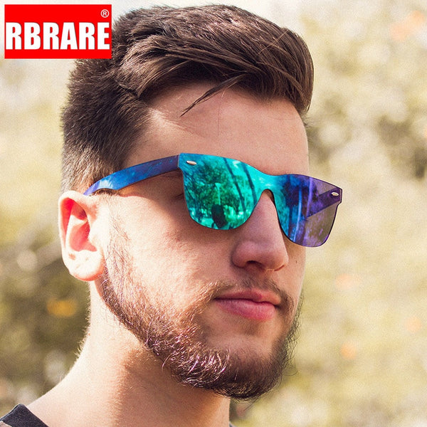 RBRARE 2019 Siamese Sunglasses Men Rice Nails Ladies Sunglasses Luxury Colorful Retro Sun Glasses Pink Mirror Shades For Women